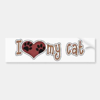 I Love My Cat *Bumper Sticker* Bumper Sticker
