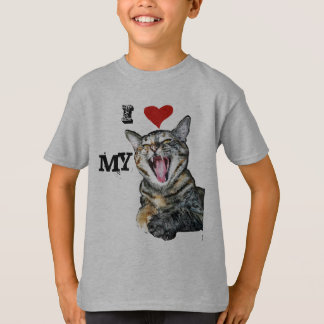 I Love My Cat Customisable Template T-Shirt