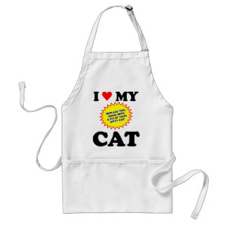 I Love My Cat CUSTOMIZABLE Standard Apron