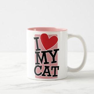 I Love My Cat Mugs