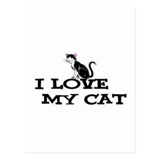 i love my cat products postcard