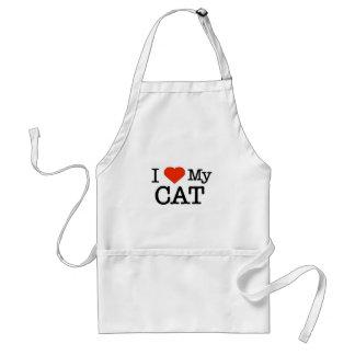 I Love My Cat Standard Apron