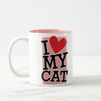 I Love My Cat Two-Tone Mug