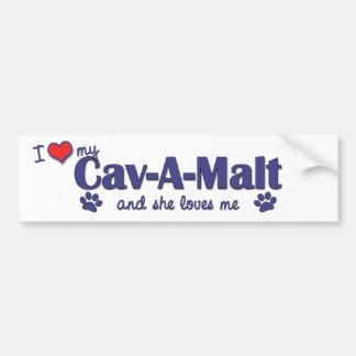 I Love My Cav-A-Malt (Female Dog) Bumper Sticker