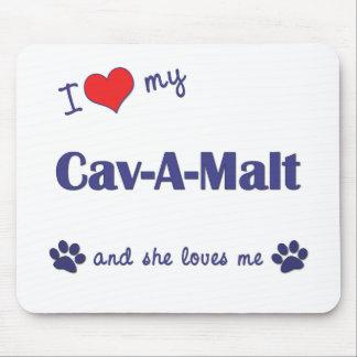 I Love My Cav-A-Malt (Female Dog) Mouse Pad