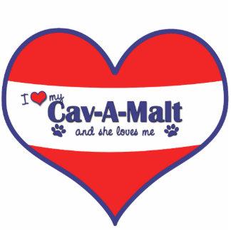 I Love My Cav-A-Malt (Female Dog) Photo Sculpture Decoration