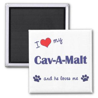 I Love My Cav-A-Malt Male Dog Magnet