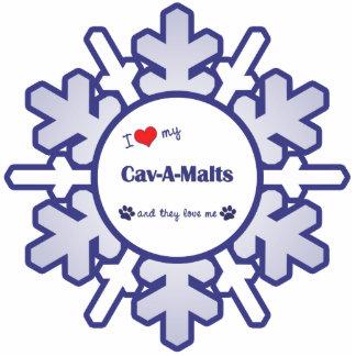 I Love My Cav-A-Malts (Multiple Dogs) Photo Sculpture Decoration