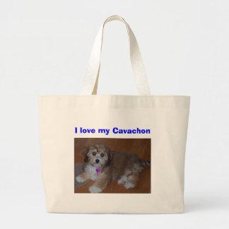 I love my Cavachon Large Tote Bag