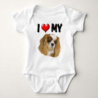 I Love My Cavalier Baby Bodysuit