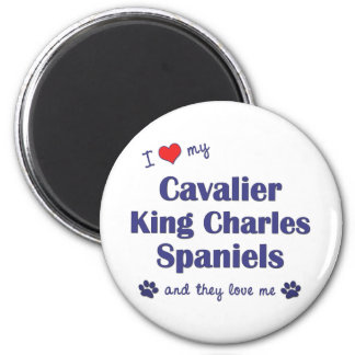 I Love My Cavalier King Charles (Multiple Dogs) Refrigerator Magnets