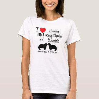 I Love My Cavalier King Charles Spaniel Dogs T-Shirt