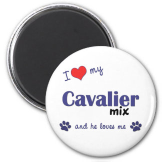 I Love My Cavalier Mix (Male Dog) Magnet