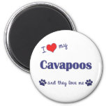 I Love My Cavapoos (Multiple Dogs) Fridge Magnet