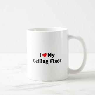 I love my ceiling fixer basic white mug
