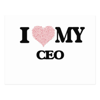 I love my Ceo (Heart Made from Words) Postcard