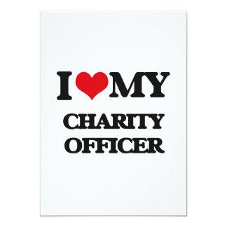 "I love my Charity Officer 5"" X 7"" Invitation Card"