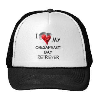 I Love My Chesapeake Bay Retriever Cap