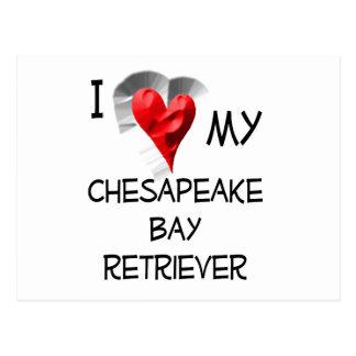 I Love My Chesapeake Bay Retriever Postcard