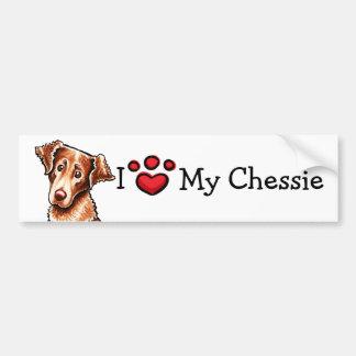 I Love My Chessie Chesapeake Bay Retriever Bumper Sticker