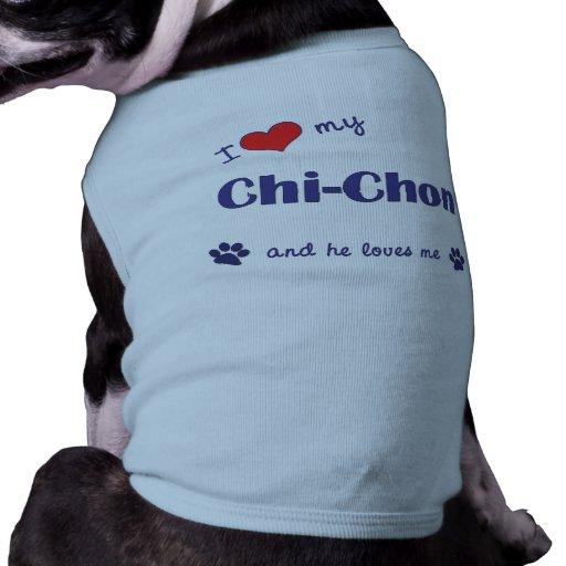 I Love My Chi-Chon (Male Dog) Dog Tee