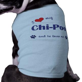 I Love My Chi-Poo (Male Dog) Sleeveless Dog Shirt