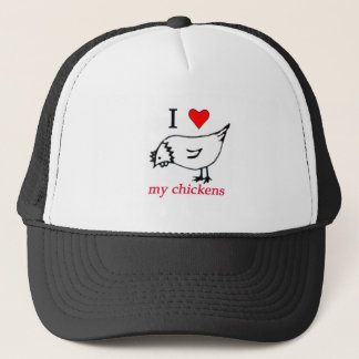 I Love my chickens Trucker Hat
