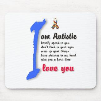I love my child with autism - unique mousepad