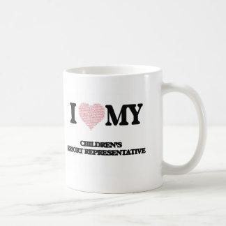 I love my Children's Resort Representative (Heart Basic White Mug
