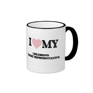 I love my Children's Resort Representative (Heart Ringer Mug