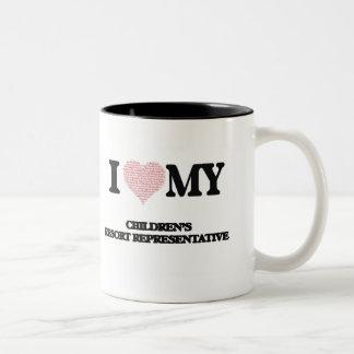 I love my Children's Resort Representative (Heart Two-Tone Mug