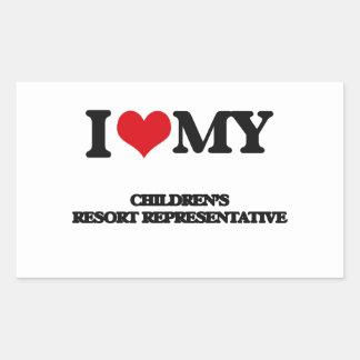 I love my Children's Resort Representative Sticker