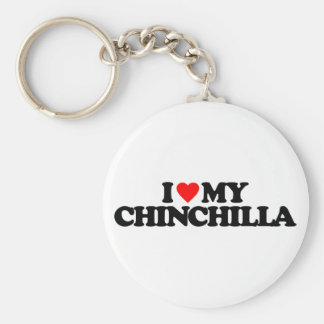 I LOVE MY CHINCHILLA KEY RING