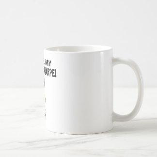 I Love My Chinese Sharpei Dog Designs Coffee Mug