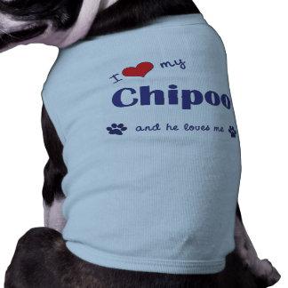 I Love My Chipoo (Male Dog) Sleeveless Dog Shirt