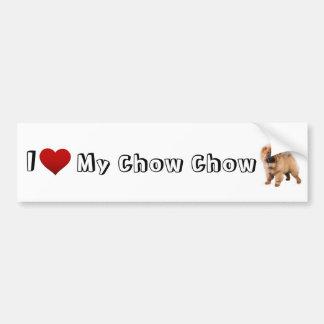 i love my chow chow (2) bumper sticker