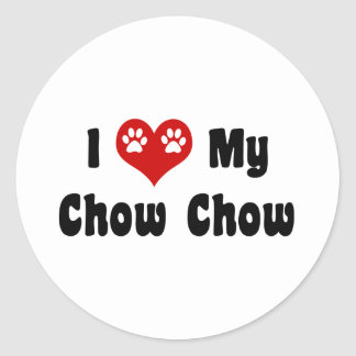 I Love My Chow Chow Classic Round Sticker