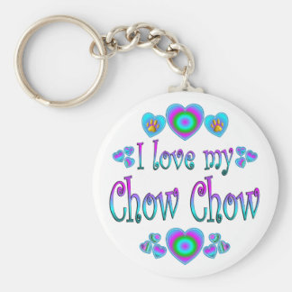 I Love My Chow Chow Key Ring
