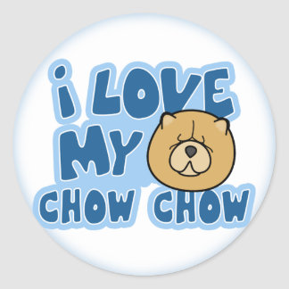 I Love My Chow Chow Stickers