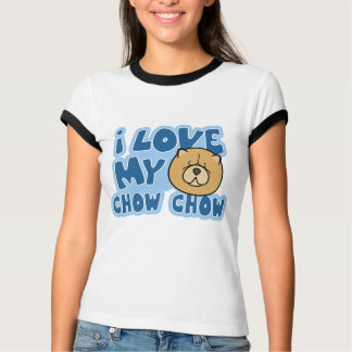 I Love My Chow Chow Women's Ringer TShirt