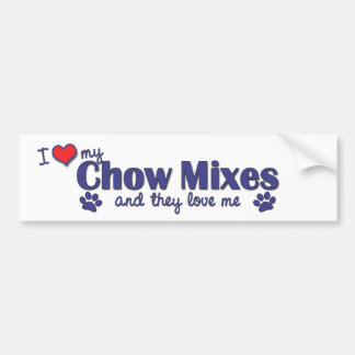 I Love My Chow Mixes (Multiple Dogs) Bumper Sticker