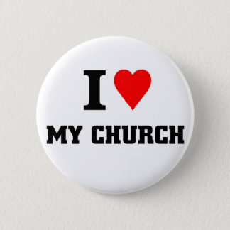 I love my Church 6 Cm Round Badge