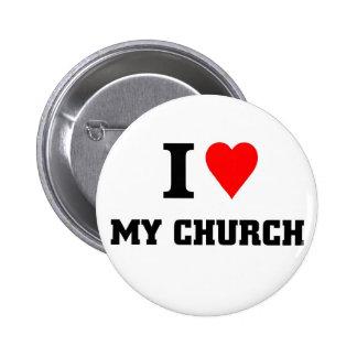 I love my Church 6 Cm Round Badge