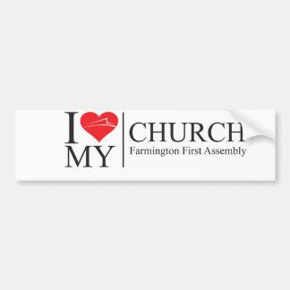I Love My Church Bumper Sticker