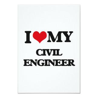 I love my Civil Engineer 9 Cm X 13 Cm Invitation Card