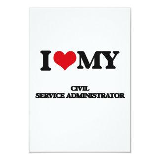 "I love my Civil Service Administrator 3.5"" X 5"" Invitation Card"