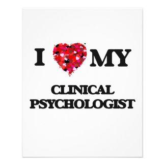I love my Clinical Psychologist 11.5 Cm X 14 Cm Flyer