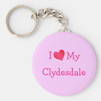 I Love My Clydesdale Key Chain