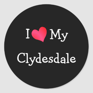 I Love My Clydesdale Sticker