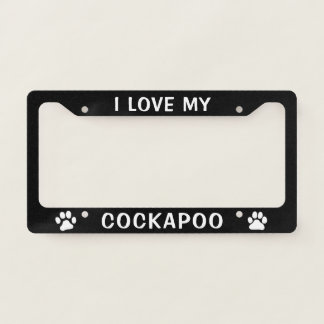 I Love My Cockapoo - Paw Prints Licence Plate Frame